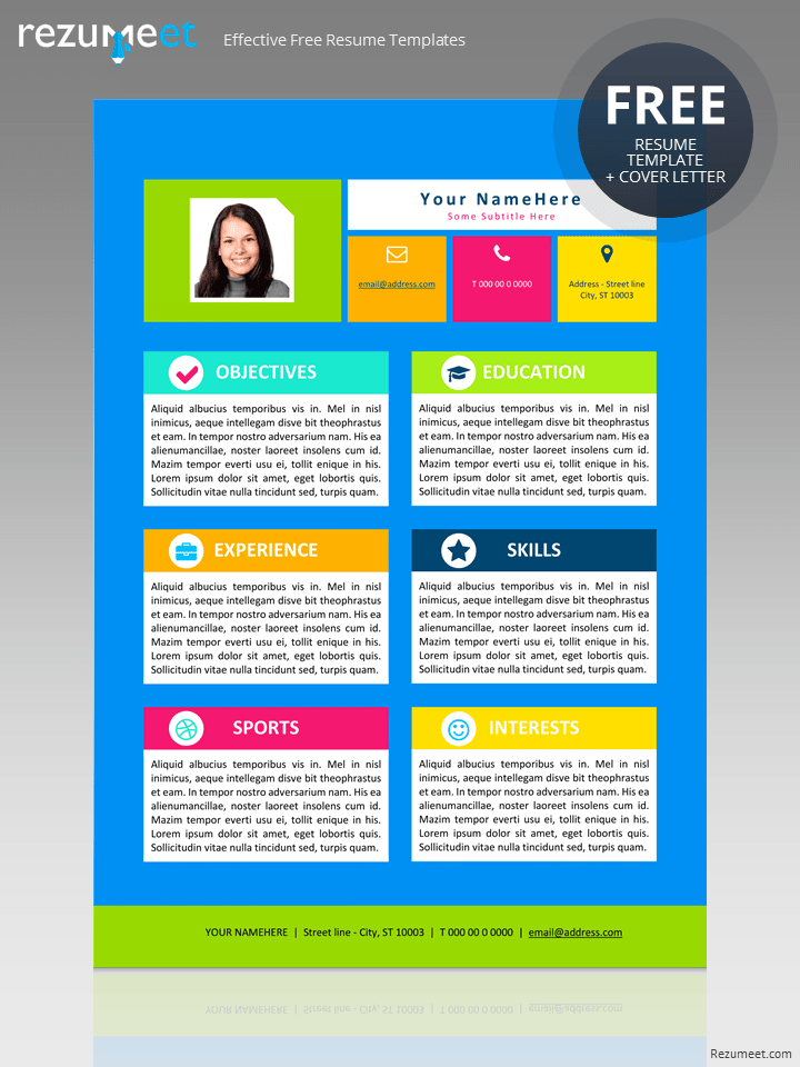 free resume template for kids