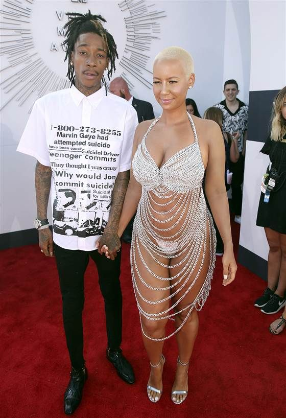 Vmas Naughtiest Look The Award Goes To Amber Rose Heavy Dresses Amber Rose Bad Fashion