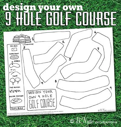 bnute productions: Free Printable Design Your Own 9 Hole Golf ...