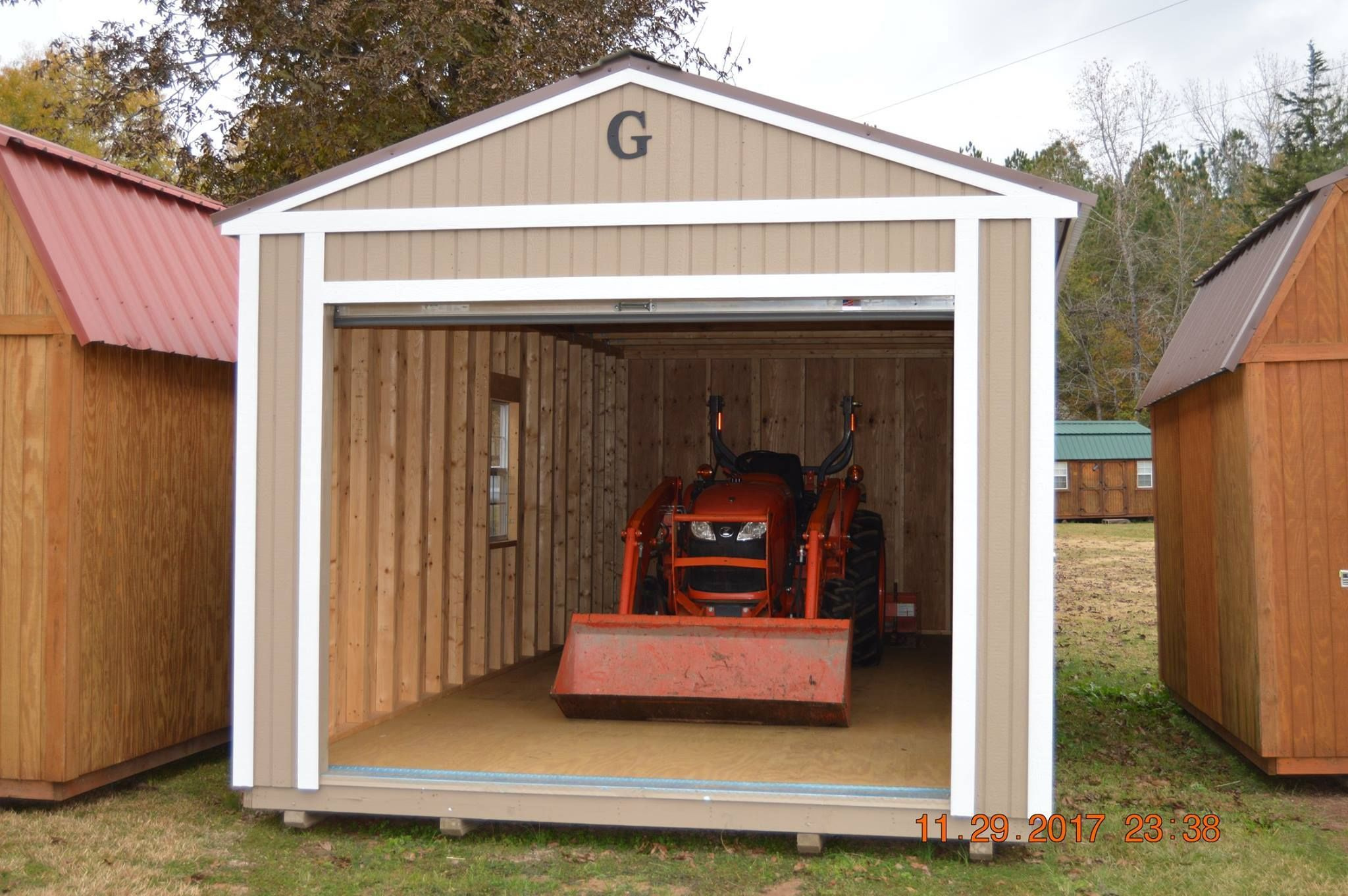 14x24 Garage Graceland Finally A Garage That Can Hold More Than A Golf Cart Or Lawn Mower Reinforced Flo Portable Buildings Portable Barn Utility Buildings