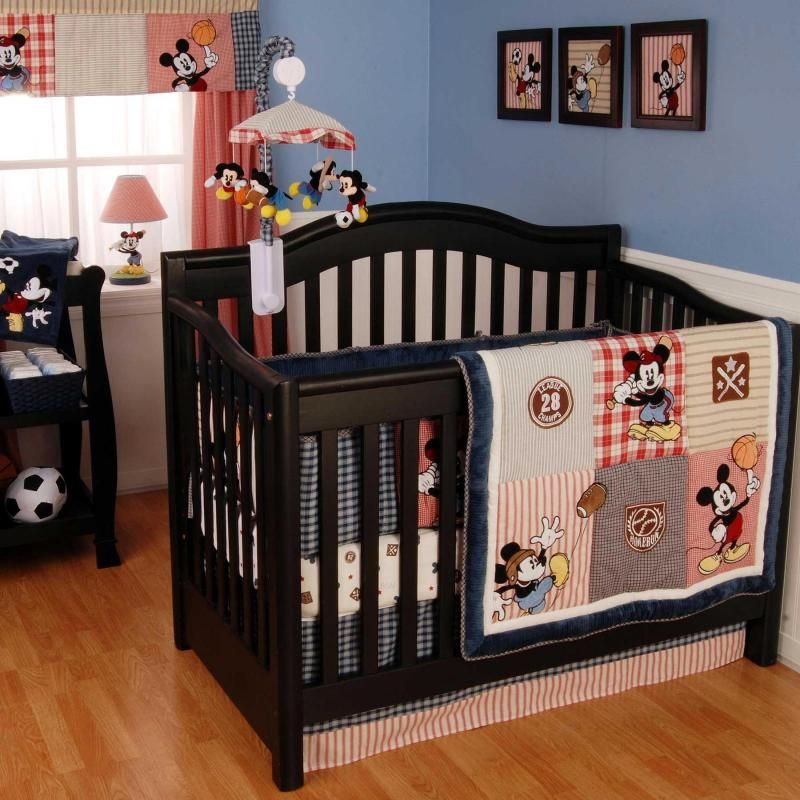 Vintage Mickey 4 Piece Baby Crib Bedding Set By Kidsline