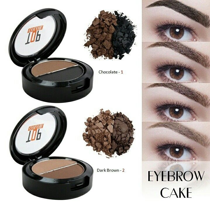 بودرة حواجب من توب كلر تركيبته بودريه مضغوطه تستخدم لتعبئة الفراغات بالحواجب ليظهر بشكل قريب جدا للشكل الطبيعي العلب Eyebrows Eyeshadow Dark Brown