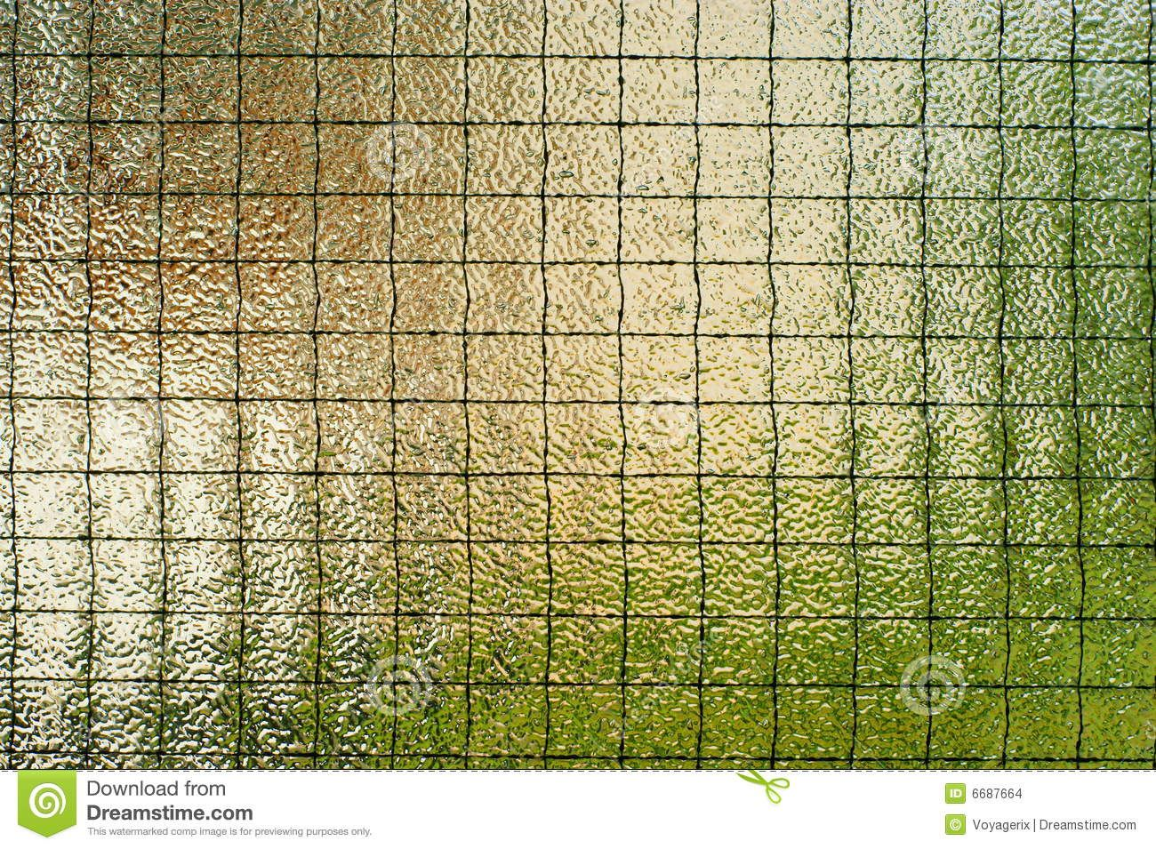 clear textured glass reinforced with wire mesh inside | garden green ...