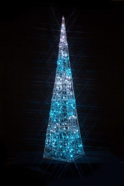 acrylic twinkling pyramid outdoor light noma lighting christmas