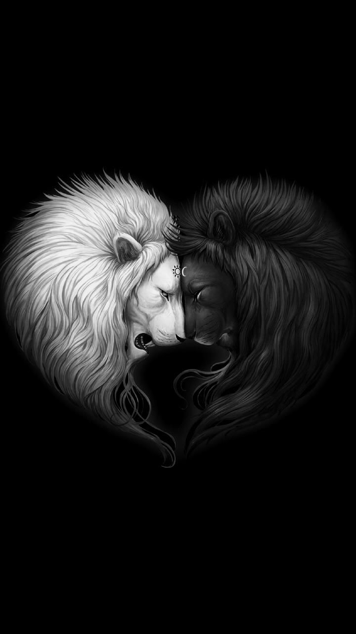 Download Yin Yang Wallpaper By Sixty Days Now Browse Millions Of Popular Balance Wallpapers And Rin Lion Wallpaper Iphone Lion Wallpaper Dark Wallpaper Iphone
