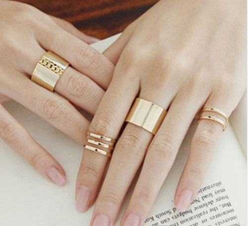 Top Fashion Above Knuckle 3Pcs Finger Ring Ring Jewelry