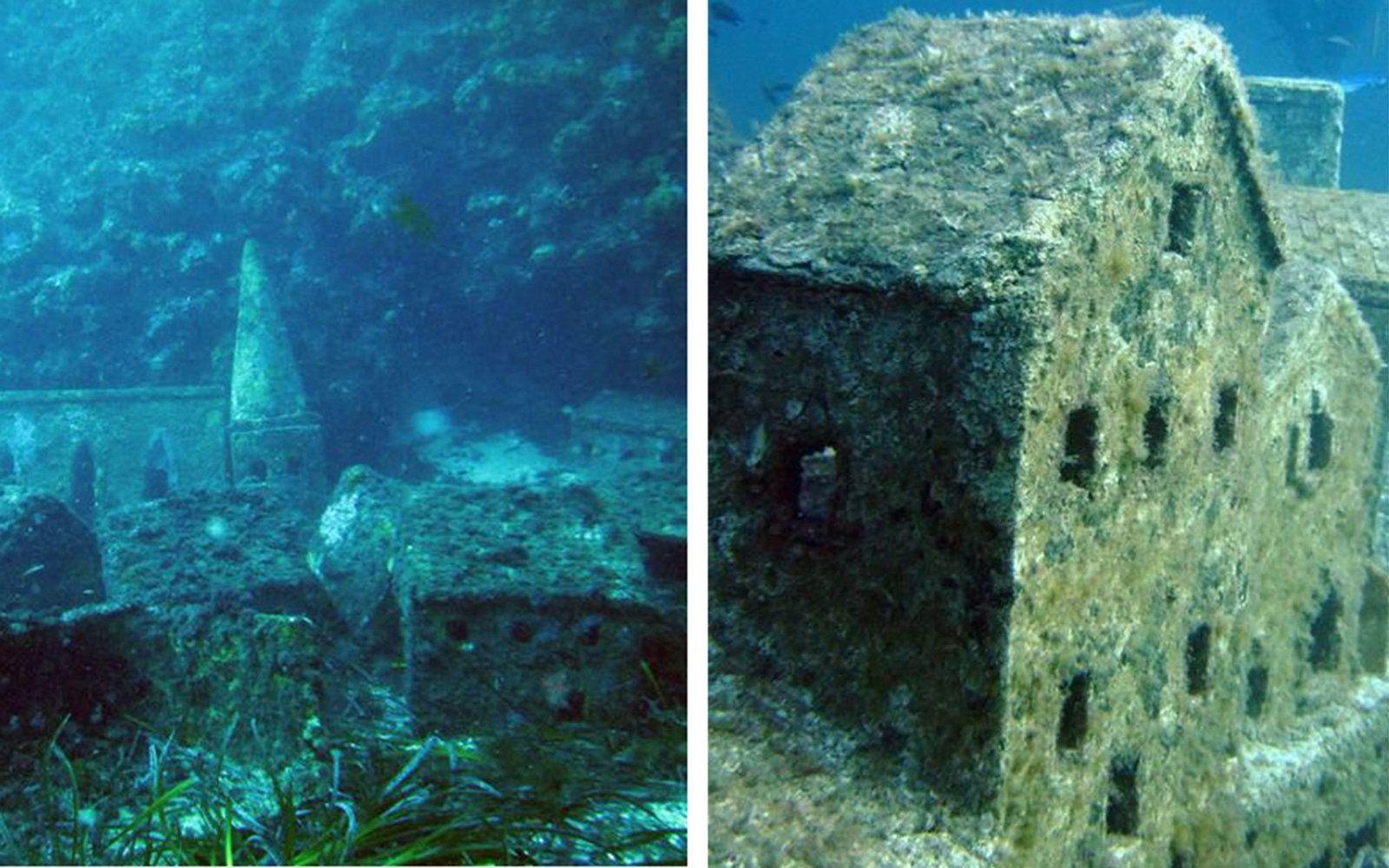 Abandoned Movie Sets Visit Underwater
