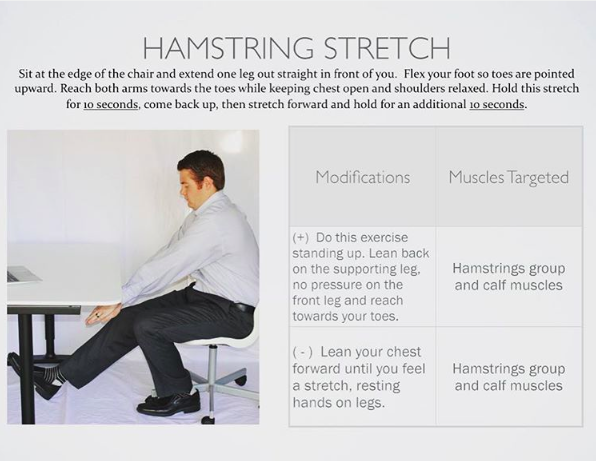 Hamstring Stretch Hamstring Stretch Hamstrings Chest Opening