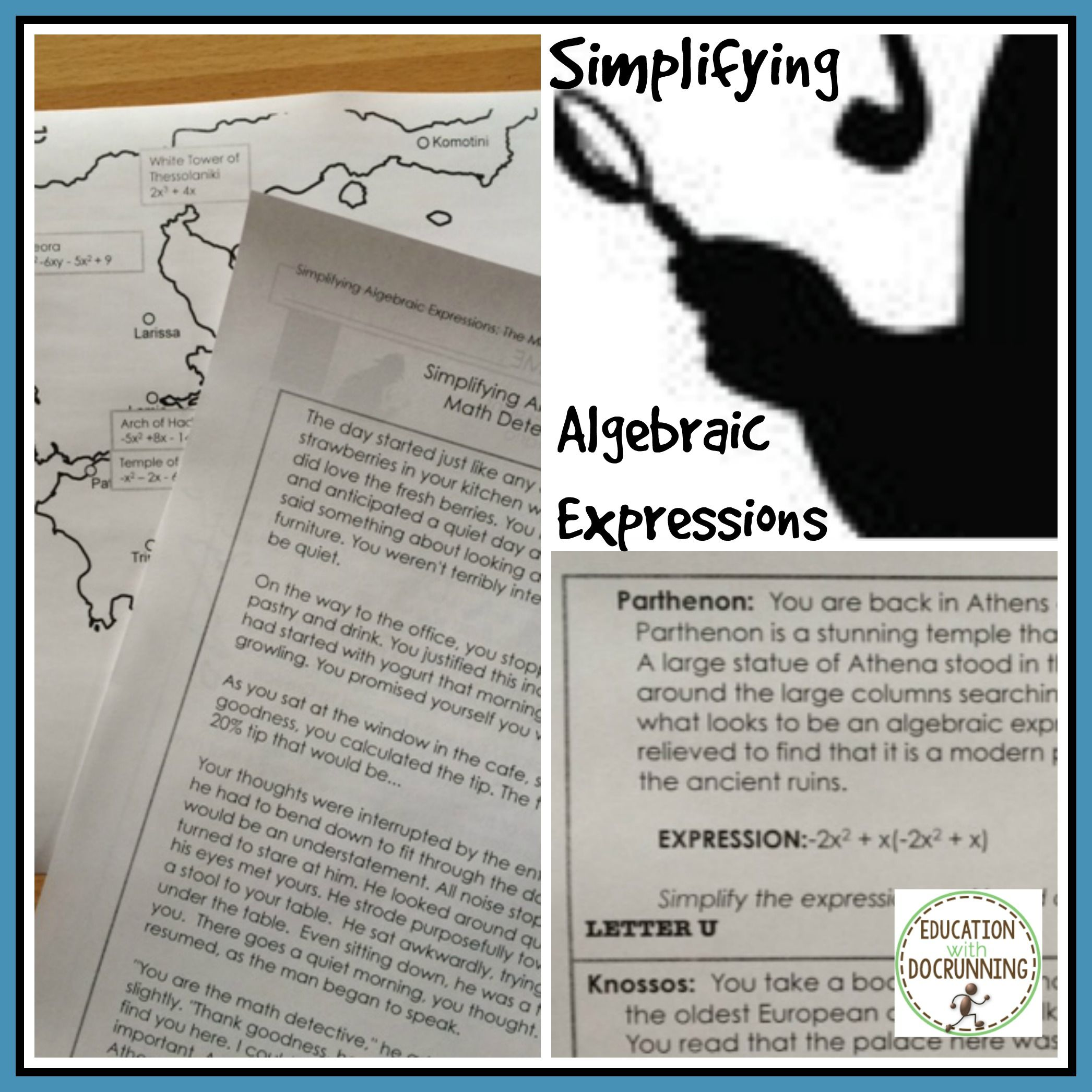 Simplify Expressions Activity Combining Like Terms