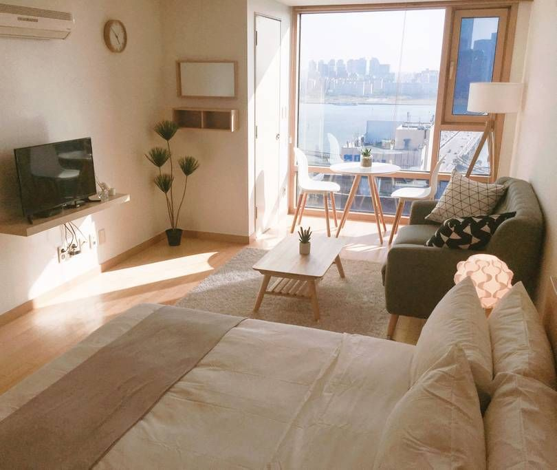 1 Connected To Mapo Stn Han River View Hongdae Apartments For Rent In Mapo Gu Seoul South In 2020 Korean Apartment Interior Apartment Interior Aesthetic Bedroom
