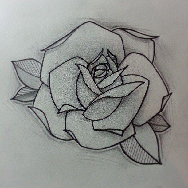 Line Drawing Rose Tattoo : Resultado de imagen rose tattoo design flores