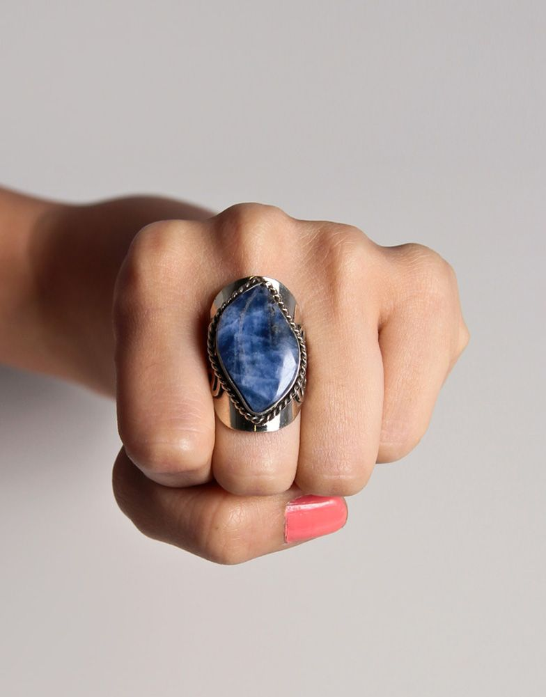 Plate Set Stone Ring. WANT