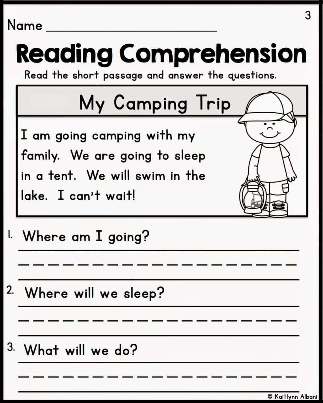 Comprehension Worksheets For Grade 1   Kindergarten reading worksheets [ 1310 x 1048 Pixel ]
