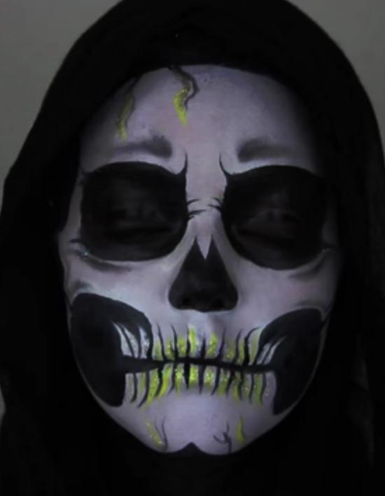 maquillage halloween squelette les 18 meilleurs tutos de maquillage pour halloween elle - Squelette Halloween