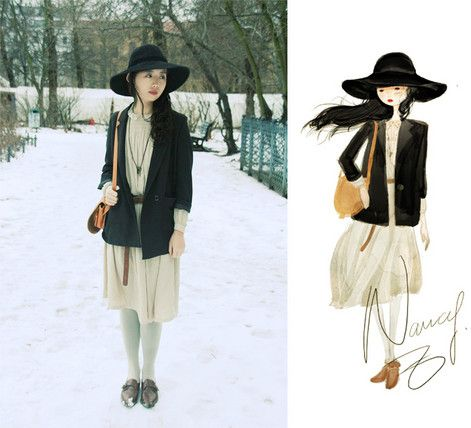 Footprints Through The Snow.  (by Nancy Zhang) http://lookbook.nu/look/1382407-Footprints-Through-The-Snow
