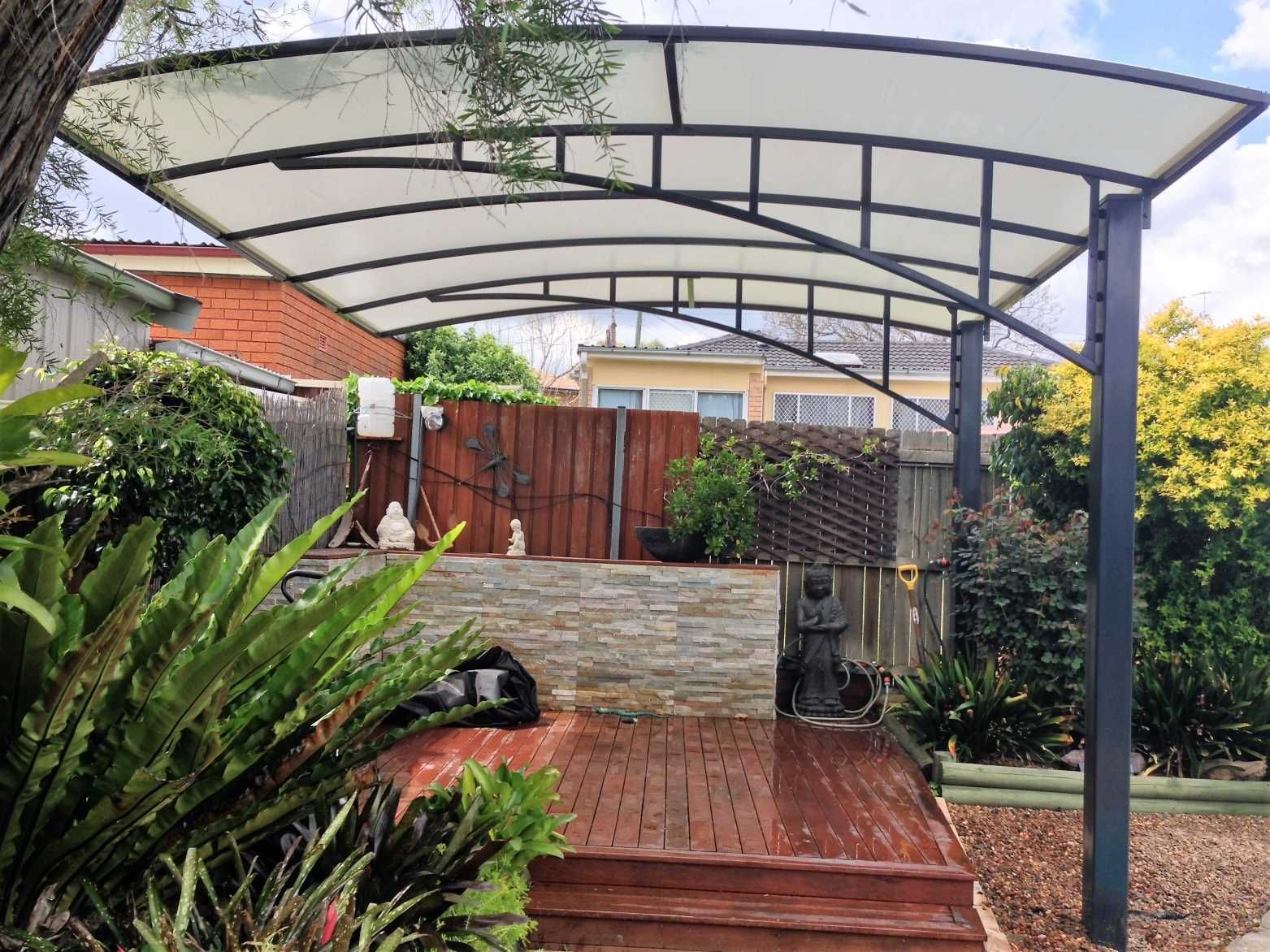 Pioneer shade structures cantilever structures porch for Metal sun shade structures