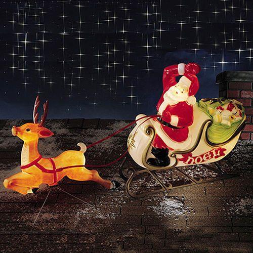 Nib Vintage 4 Blow Mold Plastic Stocking Hanger Santa Drummer Mouse Elf 25 95 Christmas Yard Decorations Christmas Sleigh Reindeer And Sleigh