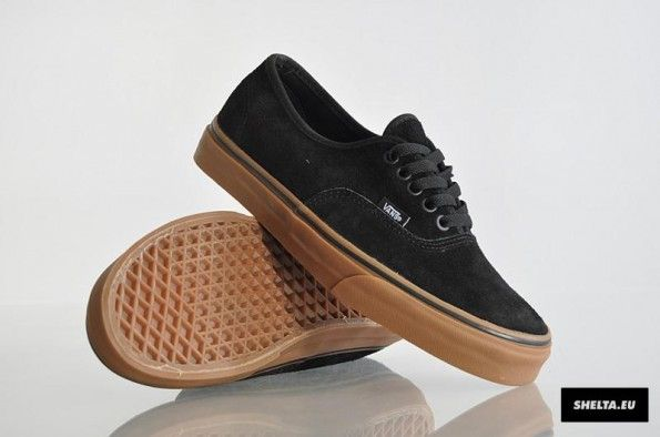 86ae29a074e Vans Authentic Suede - Black   Gum