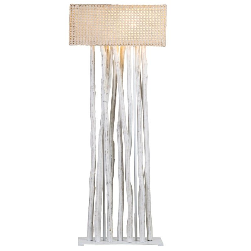 Jungle Floor Lamp White With Rectangular Shade 27x13x70 2 Boxes