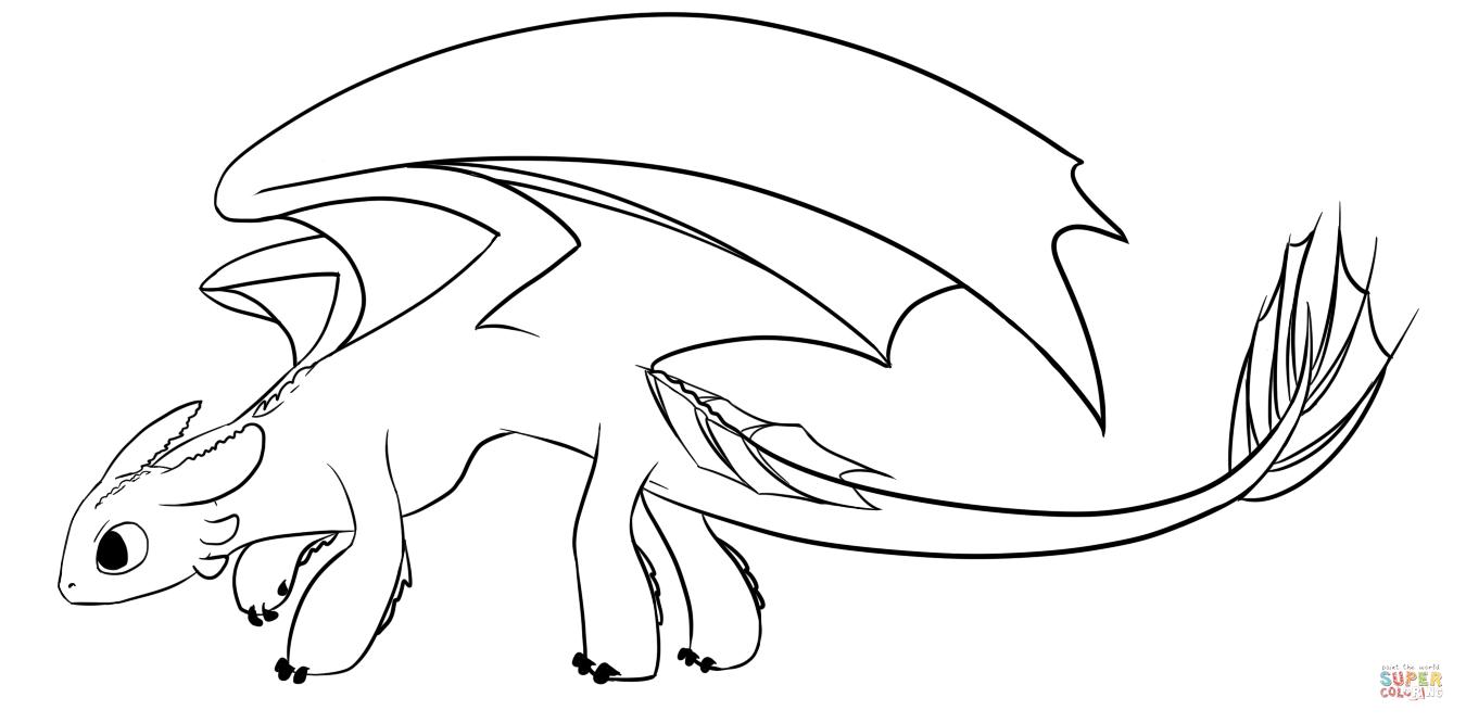 Night Fury Dragon Coloring Pages Png 1350 666 Dragao Para
