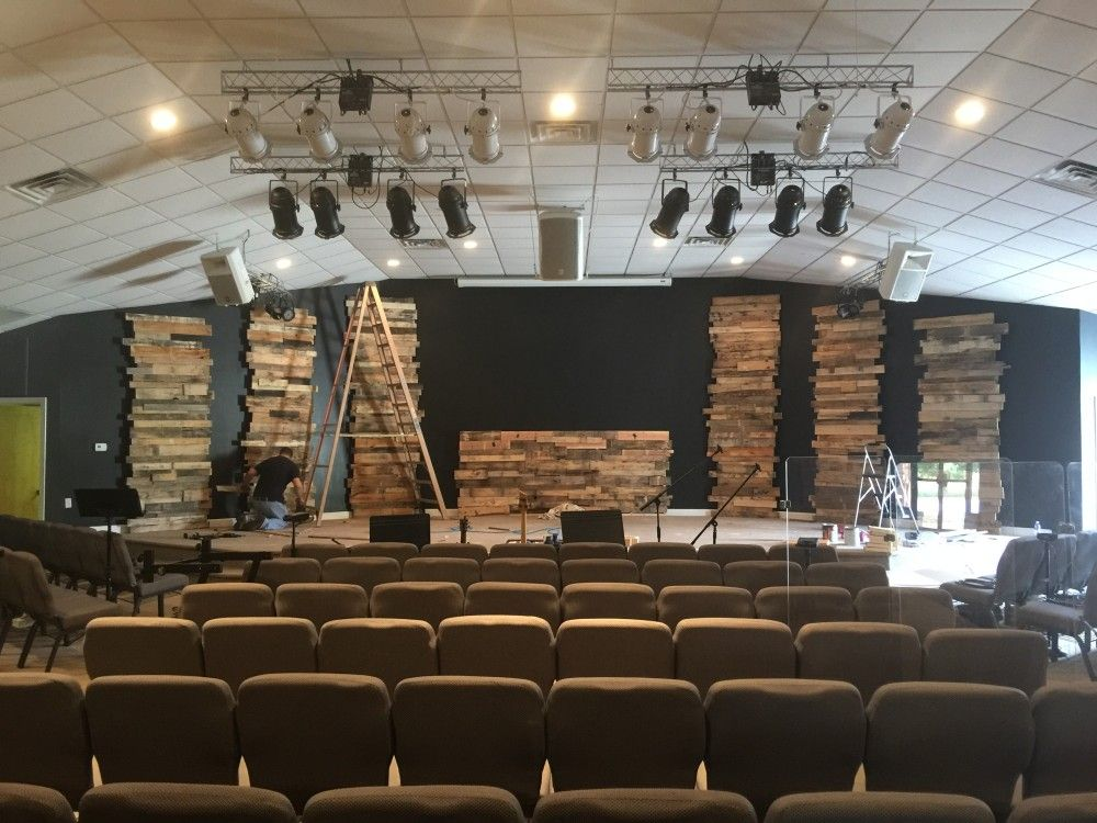 Leaning Towers Of Pallets Church Stage Design Ideas Scenic Sets And Stage Design Ideas From Churche Church Stage Design Church Interior Design Church Stage