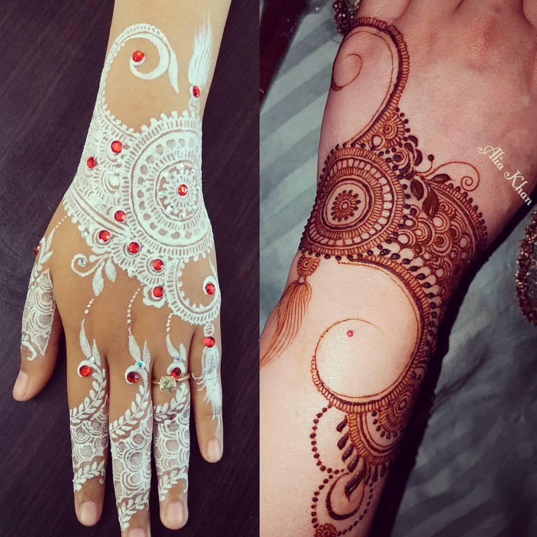 White Henna Design Inspire From Alia The Hennalover Food And Art