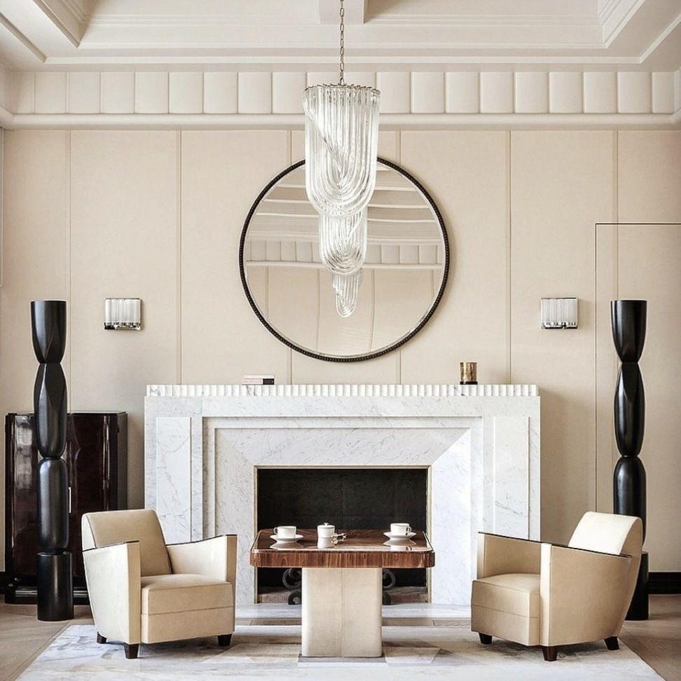 Art Deco Living Room In Paris By The Interior Designer Frederic