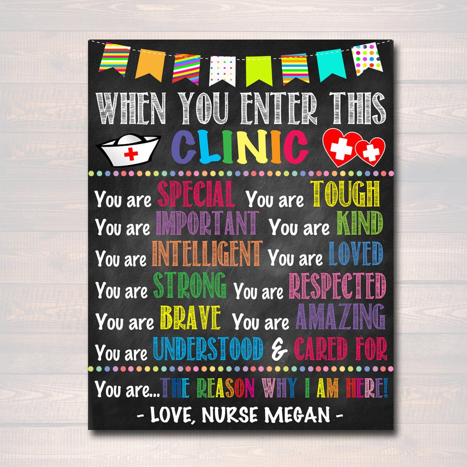 Personalized printable school health office poster
