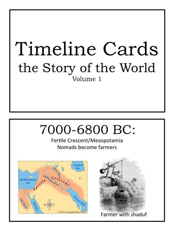 FREE Printable Story of the World (Volume 1) Timeline Cards
