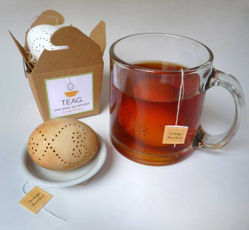 TEAG Tea Egg Shell Infuser - I don't know if I'm really going to try this, but impressive!