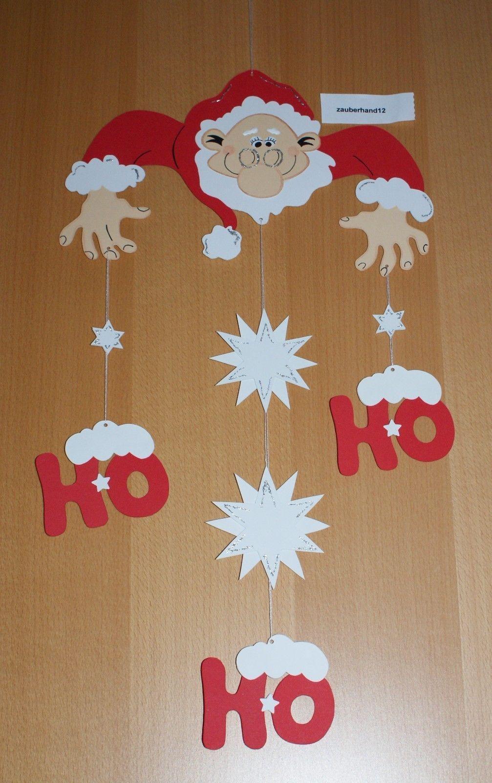 Fensterbild Weihnachtsmann Mobile Ho Ho Kette Tonkarton Deko Weihnachten Winter For Sale Eur 4 50 See Photos Basteln Weihnachten Basteln Weihnachtsbasteln