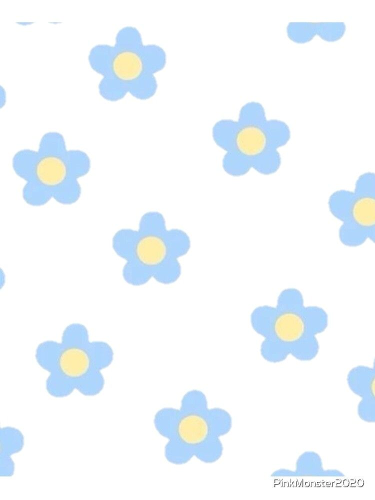 Blue Cute Small Flowers Package T Shirt By Pinkmonster2020 Redbubble Blue Flower Wallpaper Pretty Wallpaper Iphone Cartoon Flowers Blue flower wallpaper cartoon