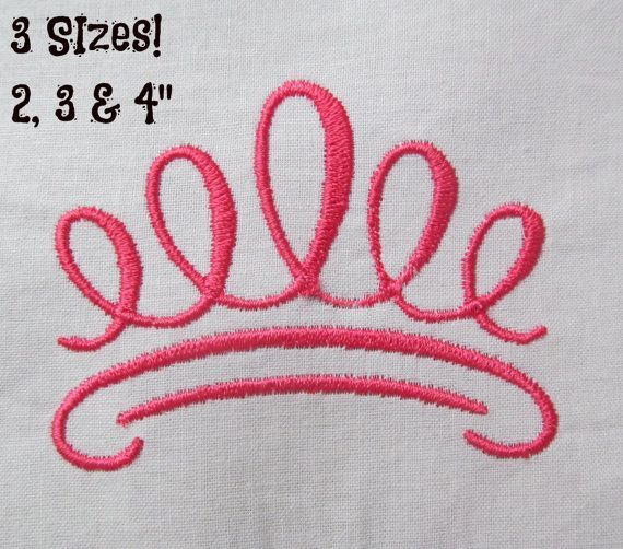 Buy 1 Get 1 Free Princess Crown Embroidery Design Crown Design
