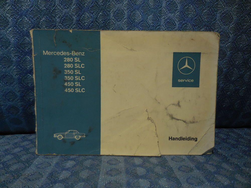 1972-1974 Mercedes Benz 280 350 450 SL SLC Original Instruction ...