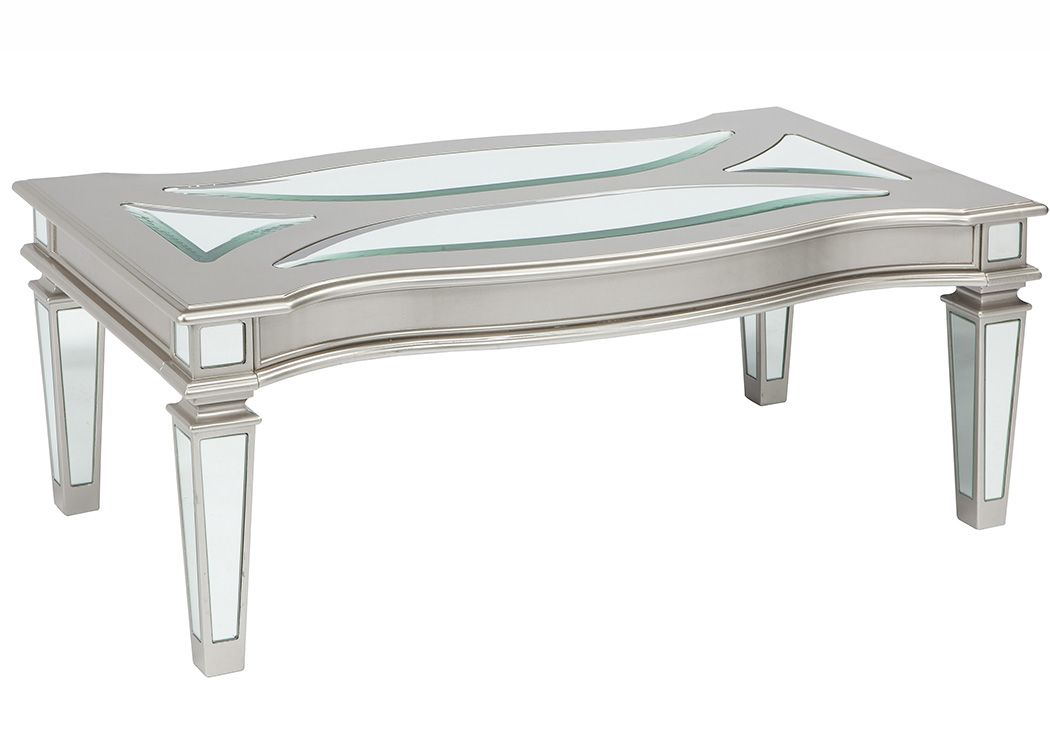 Delicieux Rock Bottom Furniture   Norwalk, CT Tessani Silver Rectangular Cocktail  Table