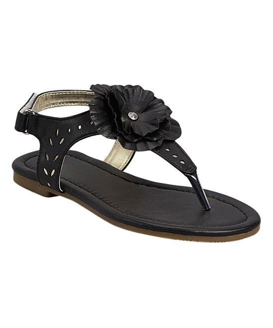 Black Embellished Tili Sandal