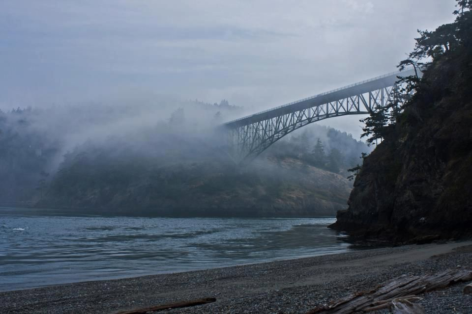 Deception Pass Bridge in the fog.-  Photo Credit- Lawrenz Photography