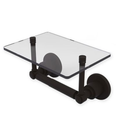 Allied Brass Washington Square Toilet Paper Holder With Glass Shelf In Oil Rubbed Bronze Glass Shelves Glass Toliet Paper Holder