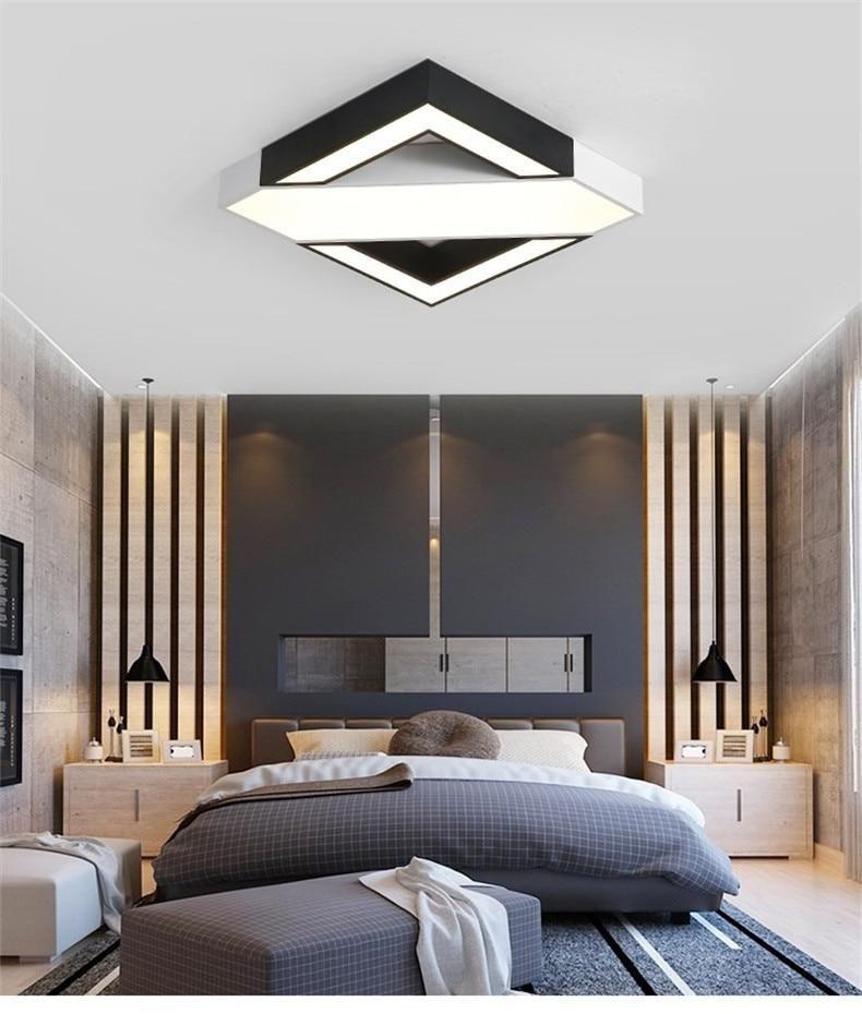 Kota Square Led Ceiling Light In 2021 Ceiling Design Bedroom Modern Bedroom Interior Luxury Living Room Design