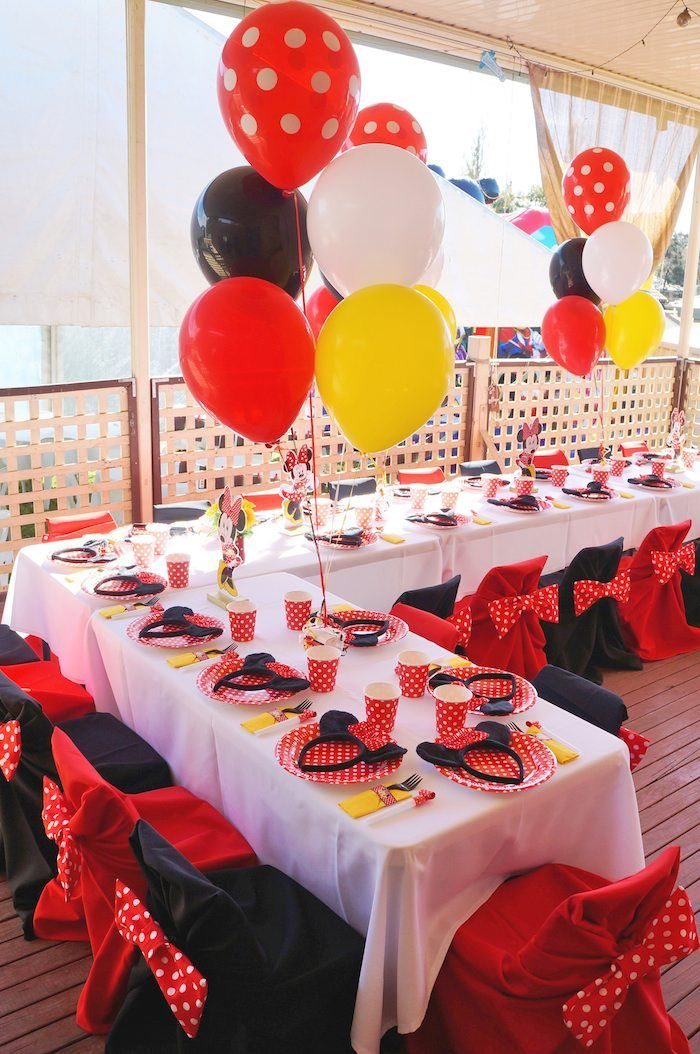 Minnie Mouse themed birthday party Minnie Mouse party