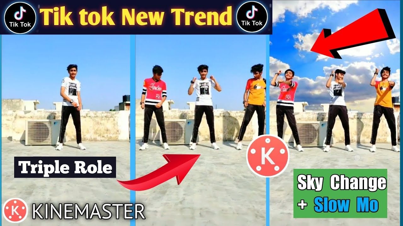 Tiktok New Trend Tripple Role Sky Change Slow Mo Video Editing In Ki Video Editing New Trends Role
