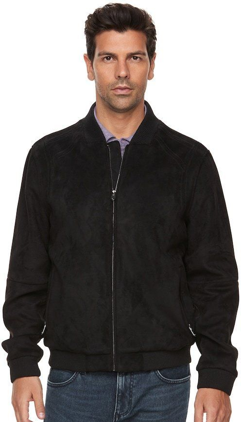 be0c4fea43 Men s Marc Anthony Slim-Fit Faux-Suede Bomber Jacket