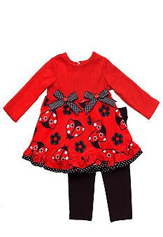 Rare Editions Ladybug Set Childrens Clothes Tops For