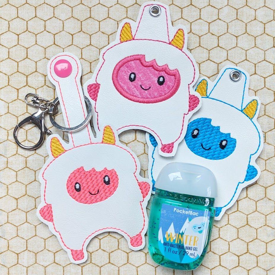 Yeti Hand Sanitizer Holder Key Fob Snap Tab November 2018