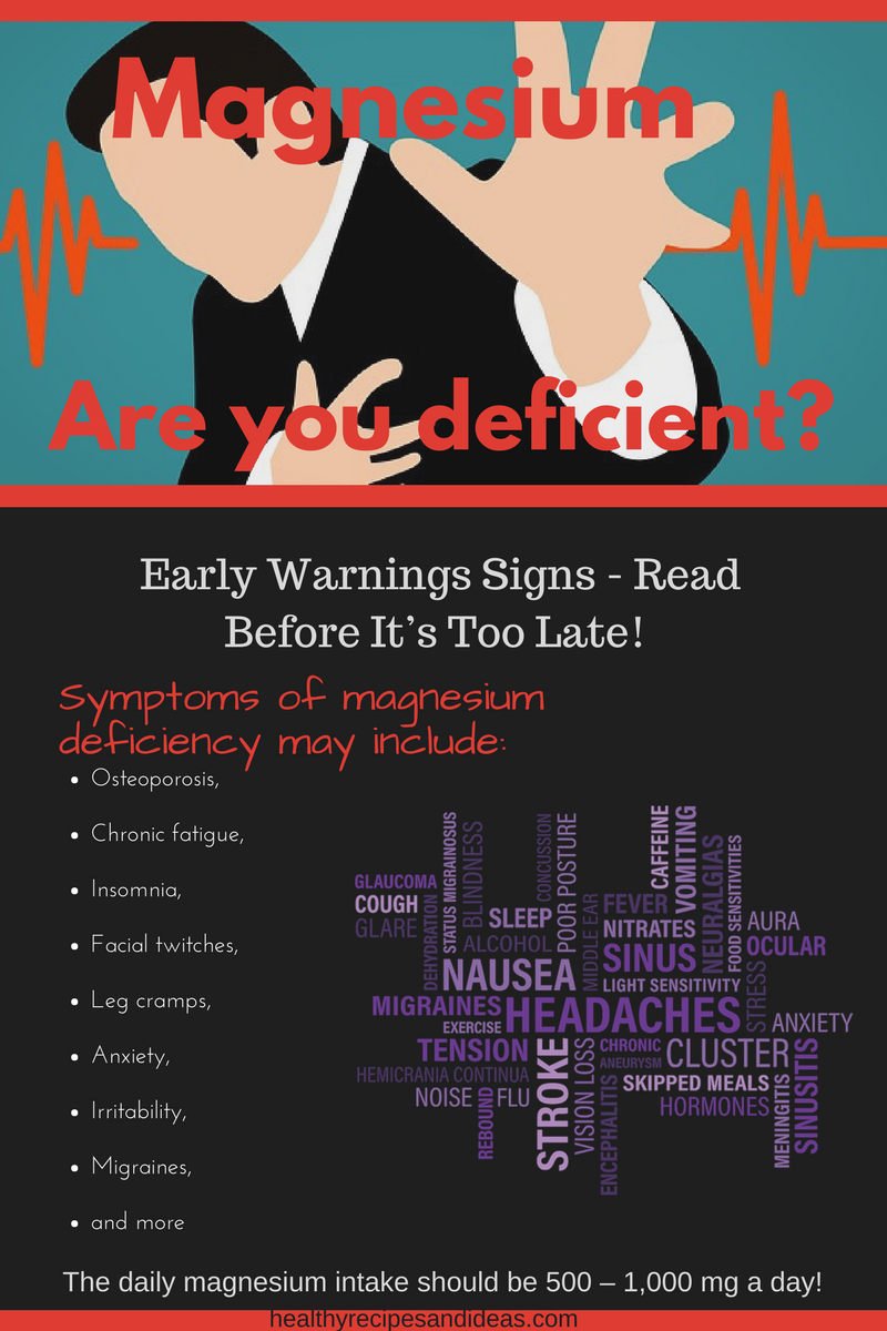 Early Warnings Signs Your Body S Magnesium Levels Are Dangerously Low Read Before It S Too Late Nutritional Deficiencies Warning Signs Health Nutrition