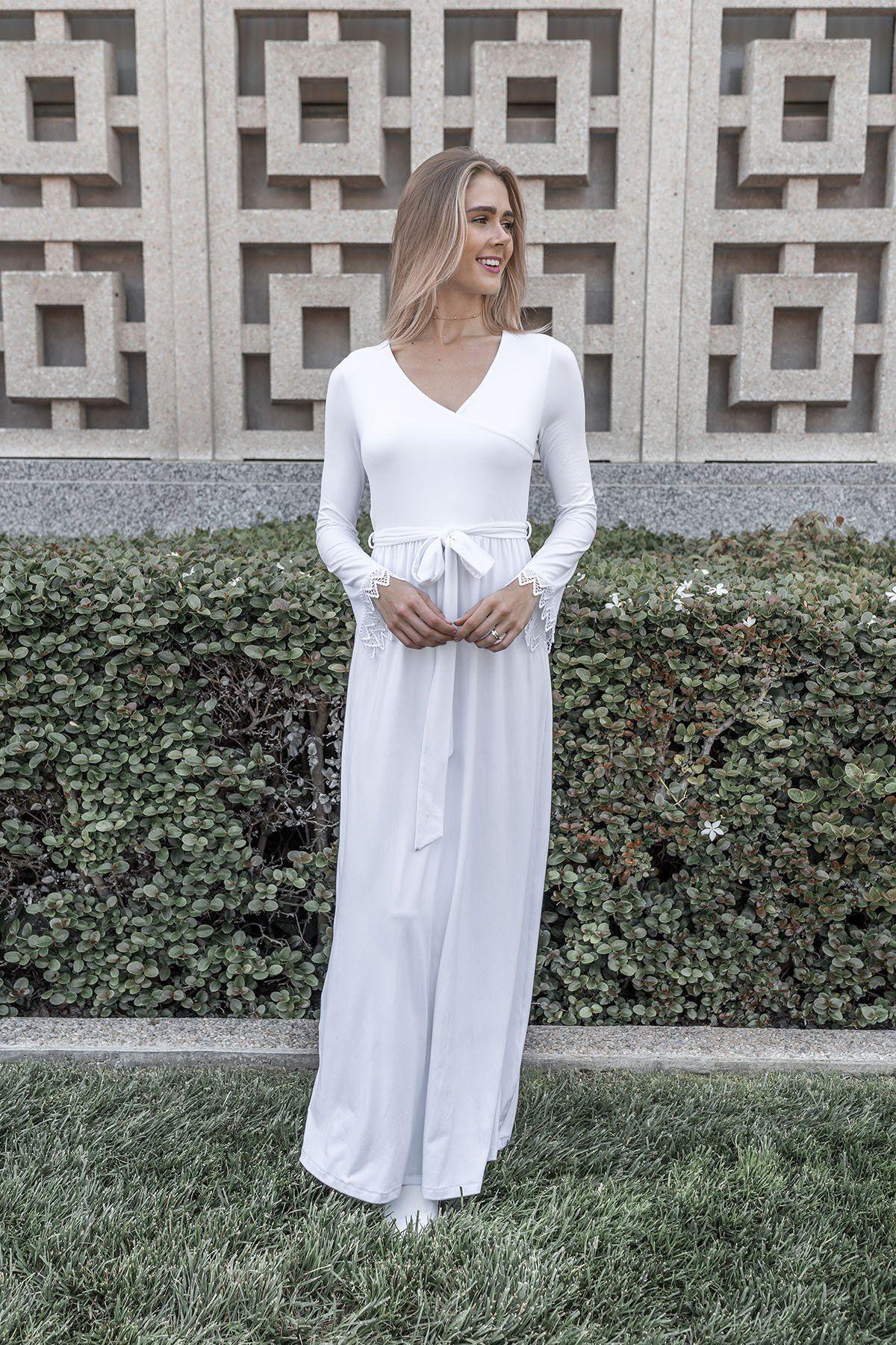 White Rose Dress Temple Dress White Dresses For Women Lds Temple Dress [ 1800 x 1200 Pixel ]