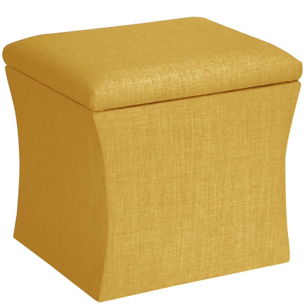 Skyline Furniture Hdc Linen French Yellow Storage Ottoman Yellow