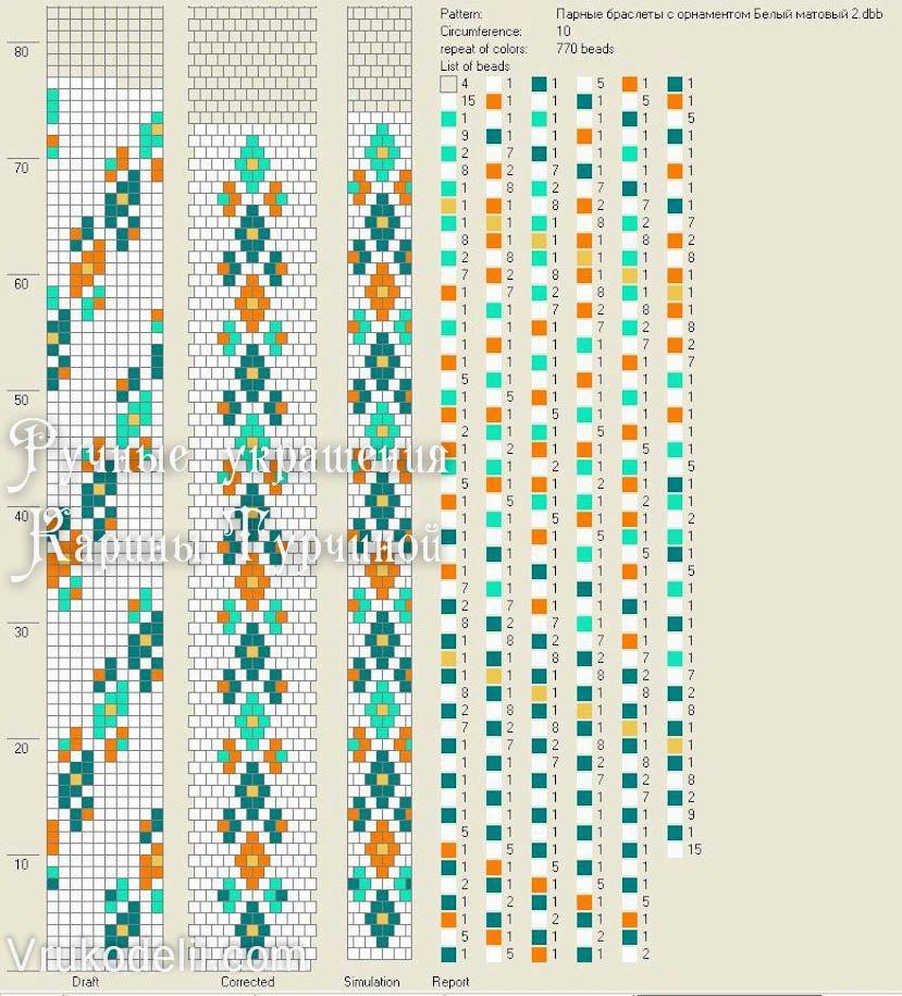 54 схемы вязания жгутов на 21-24 бисерин / вязание с бисером.
