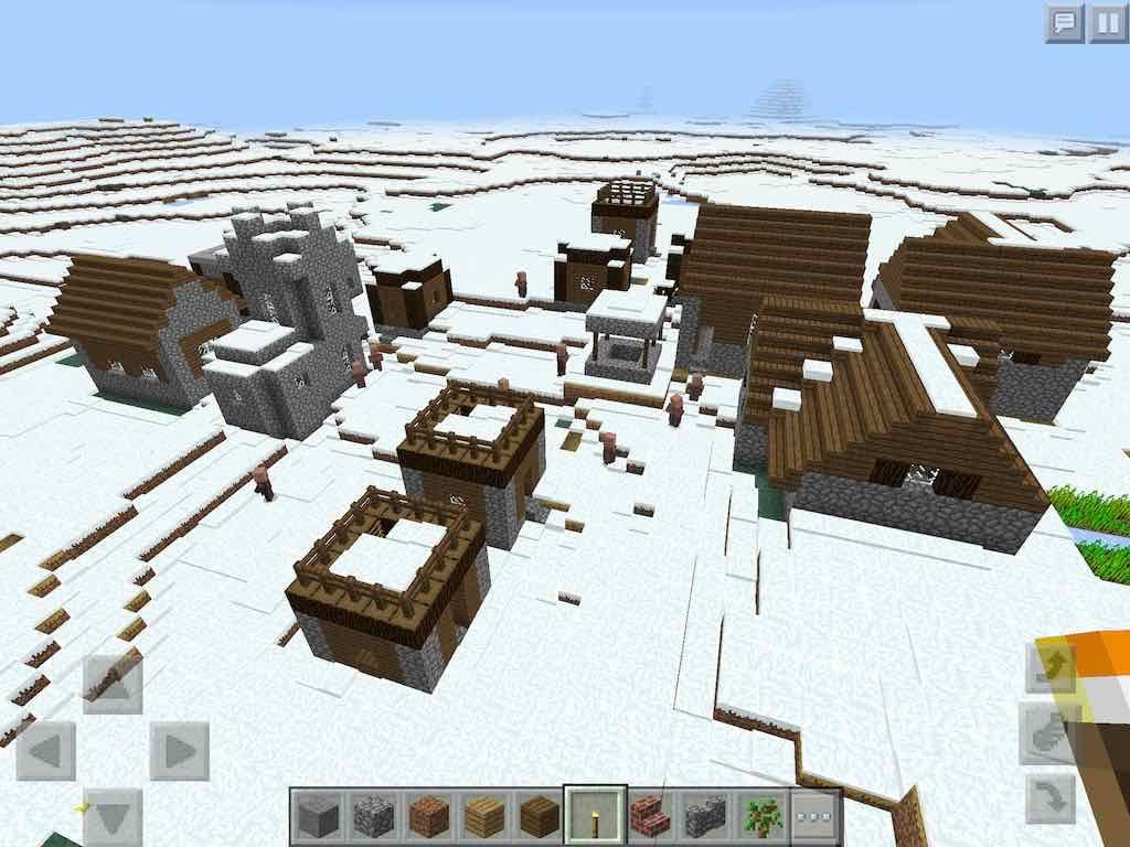 Snow Village Seed ;)  Snow village, Minecraft pe seeds, Minecraft