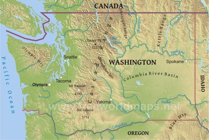 Washington Physical Map